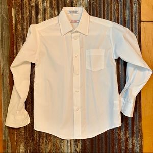 Boys' Izod White Button Down Shirt